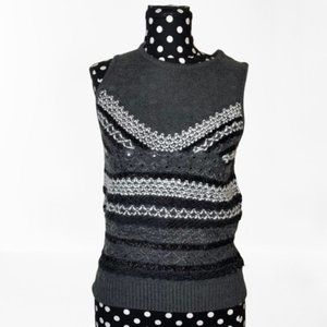 Chelsea28 Embellished Sweater Vest Size Small